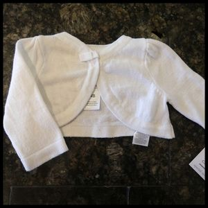 "Carter's ""Just One You"" White Sweater - Newborn"